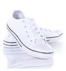 Fűzős, egyszínű férfi vászon tornacipő (A145-1)