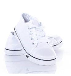 Fűzős gyerek vászon tornacipő (A143-1)