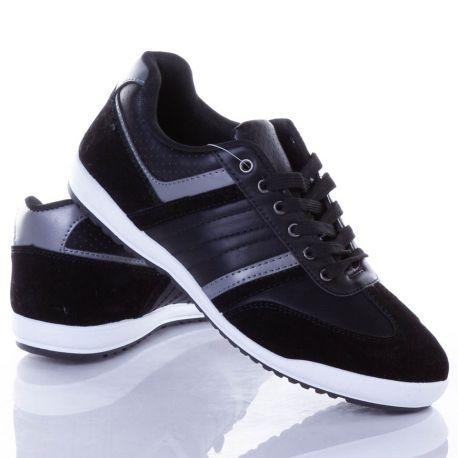 Műbőr-velúr, fűzős férfi sport cipő (2807)