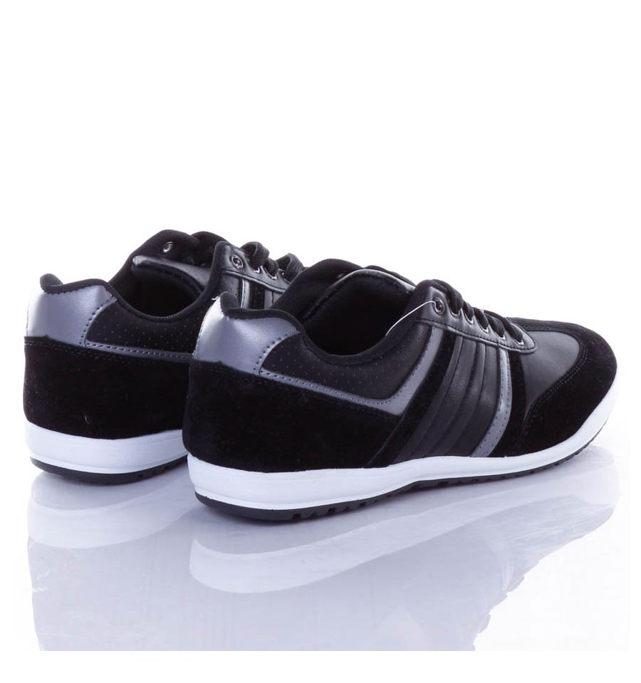 Műbőr velúr, fűzős férfi sport cipő (2807)