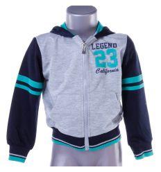 Legend 23 feliratos, kapucnis, passzés aljú gyerek cipzáros felső, pulóver (X-1503)