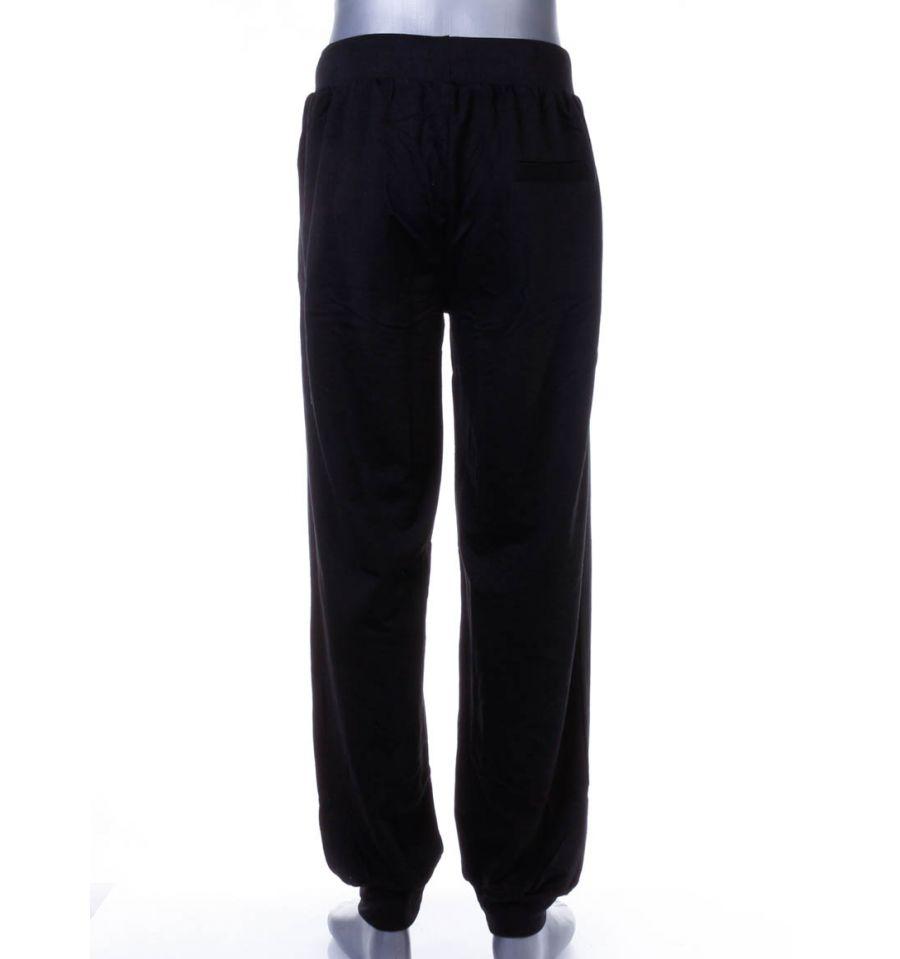 Szárán feliratos, passzés aljú, pamut férfi melegítő alsó, nadrág (LT 7338)