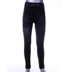 Tulipán mintás, farmer mintás, enyhén bélelt lányka leggings (LT-6175)