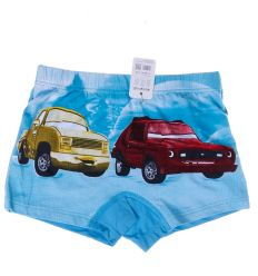 2 autós, bambuszos anyagú fiú boxer alsó (GRF318)
