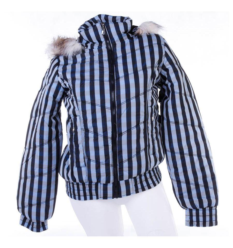 bdb8419dc6 Kockás, polár béléses, kapucnis női kabát, dzseki (F22106W)