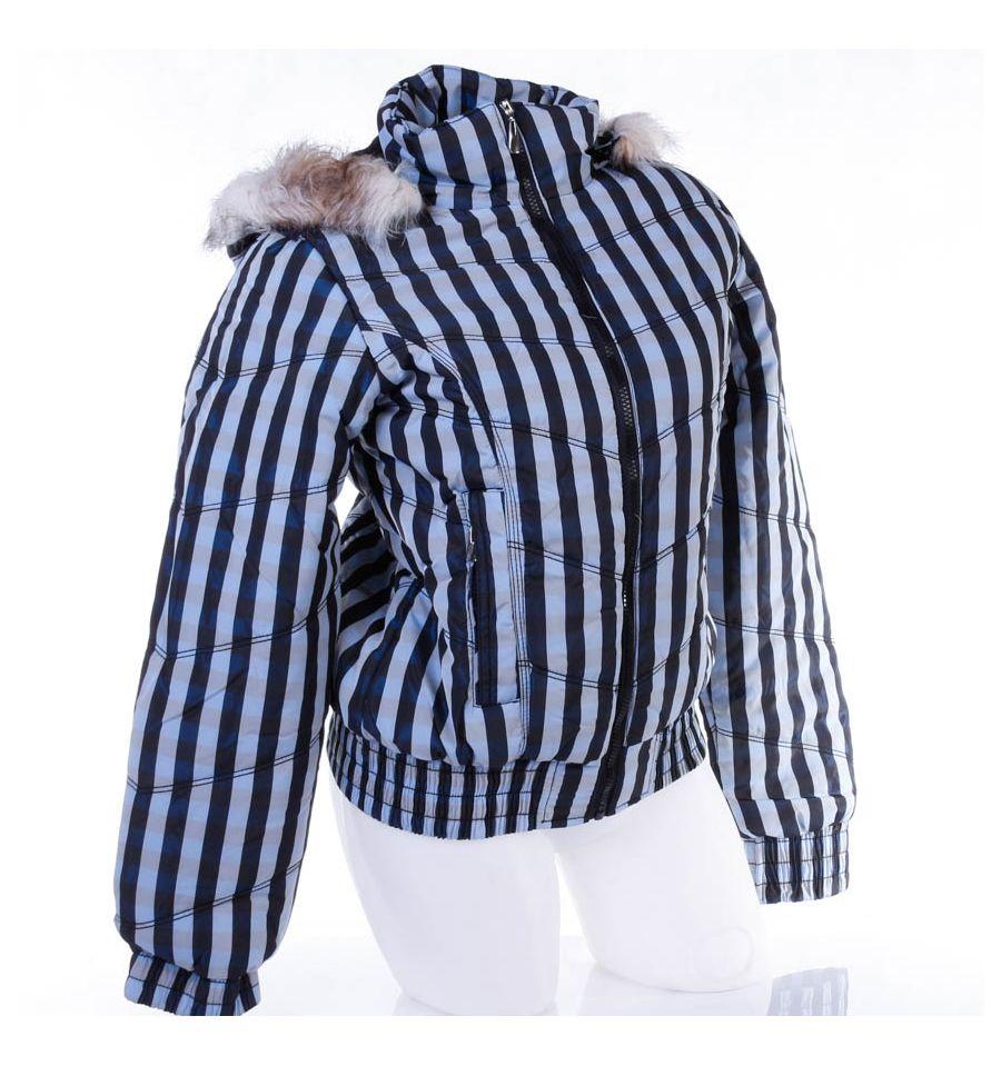 277521a6f8 Kockás, polár béléses, kapucnis női kabát, dzseki (F22106W)