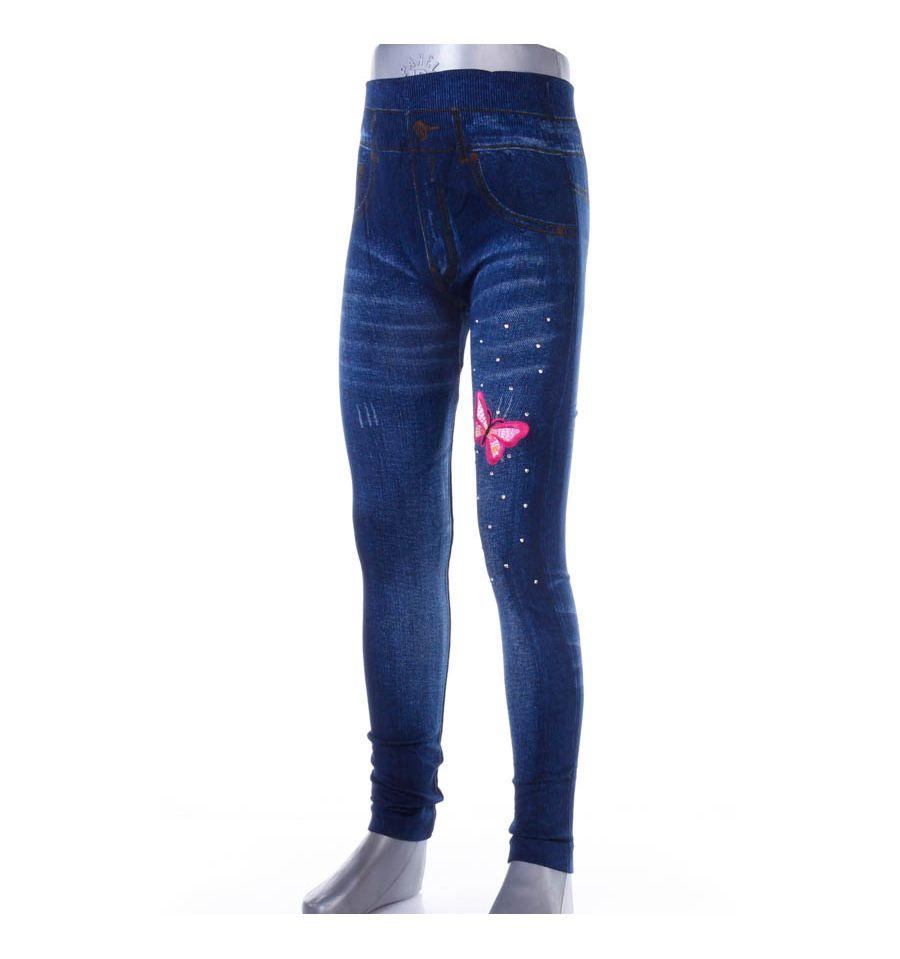 c9f6e18d8f Színes lepkés, köves, farmeres lány elasztikus leggings (A707-4)
