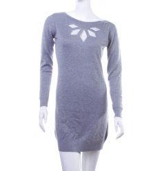Mellrésznél hálós mintás, ezüst szálas női tunika, ruha (LV5211)