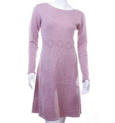 Derekán rombusz mintás, lefelé bővülő, kötött női rugalmas tunika, ruha (LV5135)