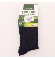 Férfi bambusz anyagában bordás normál zokni (9509)