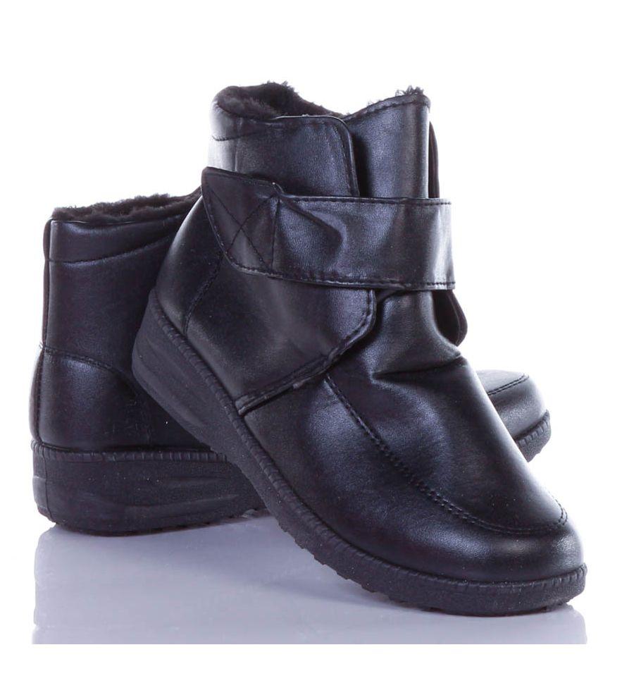 935ca5642b Bélelt, tépőzáras, magasszárú női cipő (A425) ...