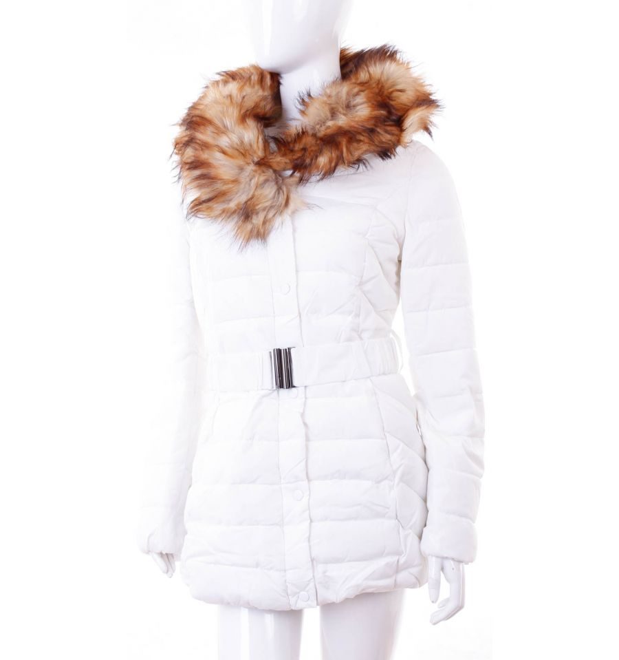 4dc296bd9a Bundás, szőrmegalléros, karcsúsított női téli kabát steppelt mintás  (WS-1706-6 ...