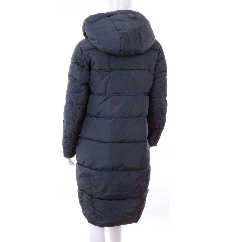 ba5f351989 ... Bundás, ezüst cipzáras, steppelt mintás, női hosszú téli kabát (WS-1713  ...
