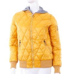 Steppelt mintás, puha anyagú, kapucnis női kabát (WS-305-10)