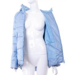 Szőrme béléses, hátul hosszabb, puha anyagú női kapucnis kabát (WS-1703-14)