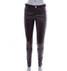 2745456058 Elöl műbőr, fenekén zsebes női rugalmas anyagú nadrág, leggings (PL-496) ...