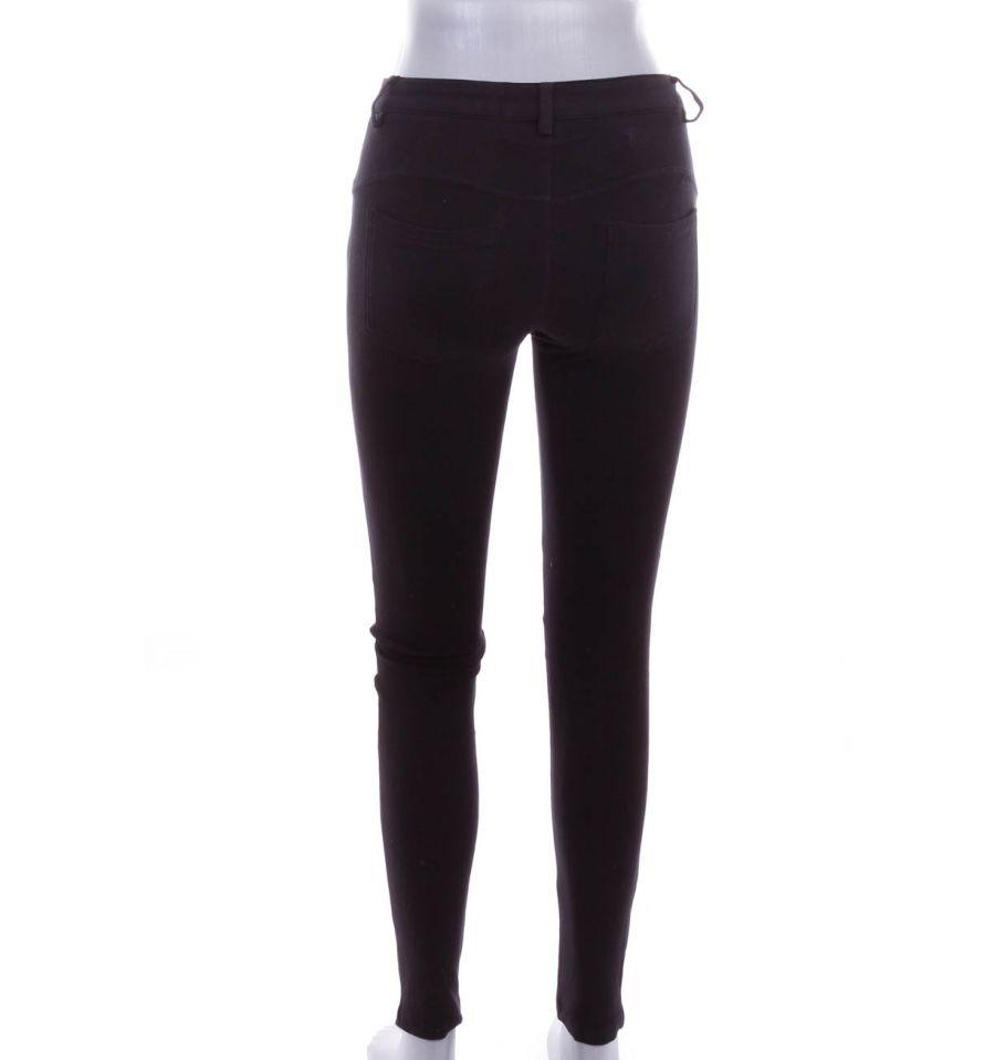 Elöl műbőr, fenekén zsebes női rugalmas anyagú nadrág, leggings (PL 496)