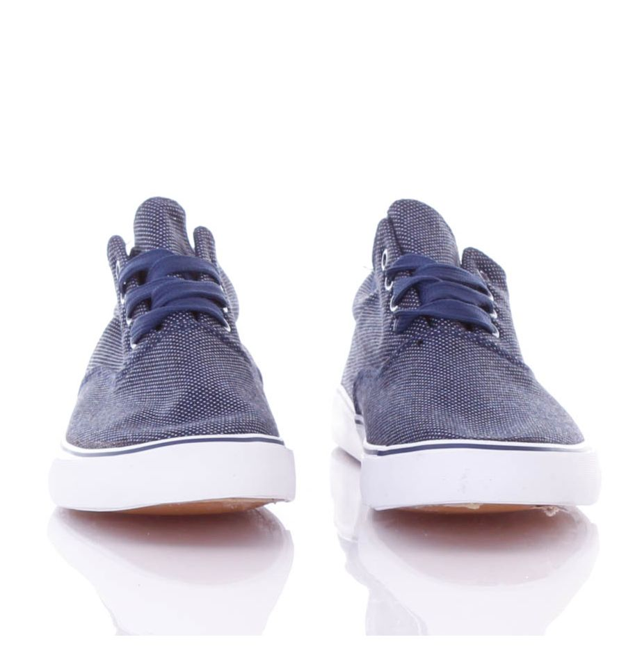Szálmintás, vastag talpú, fűzős férfi vászon cipő (911 04)