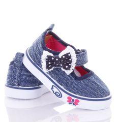 Masnis, farmeres, tépőzáras, harántemelős lány vászon cipő (B1133)