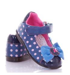 Masnis, pöttyös, bokapántos, harántemelős lány műbőr cipő (A9735)