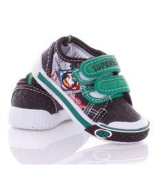 Sas mintás, harántemelős, tépőzáras fiú vászon cipő (A9585P)