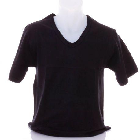 6721f7e0f5 Rugalmas pamut, rövid ujjú, v-nyakú férfi felső, póló (Findroad H6037)