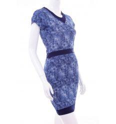 Farmeres, derekánál köves, kerek-nyakú női ruha (2014)