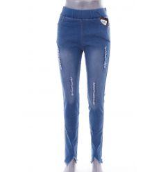 Szaggatott mintás, magas derekú, rugalmas farmeres női leggings, nadrág (1016)
