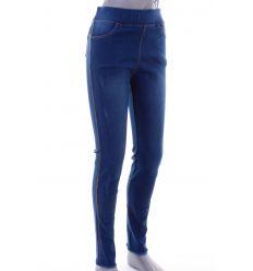 Magas derekú, koptatott, rugalmas anyagú női farmeres leggings, nadrág (1017)