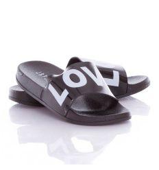 Love feliratos, fényes pántos női gumi papucs (WG001-2)