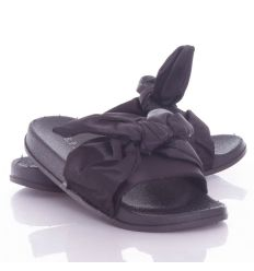 Selyem szalagos, masnis pántú női gumi papucs (WG001-3)