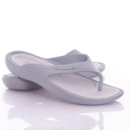 Sport feliratos, lábujjközös, könnyű, férfi gumi papucs (ST-882)