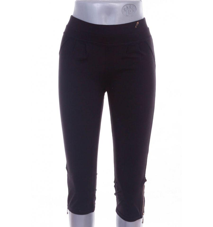 1ab1b5f80b Szárán kis cipzáros, puha pamutos női térd leggings, nadrág (NQ150)