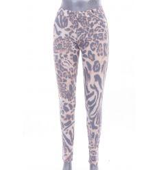 Állat mintás, fenekén zsebes, rugalmas anyagú női nadrág, leggings (NA612)