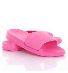 Hímzett mintás, műbőr pántú női gumi papucs (T880-1)
