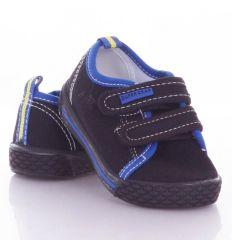 Kétszínű, tépőzáras, harántemelős gyerek vászon cipő (A9773P)