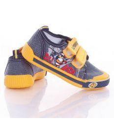 Sas mintás, harántemelős, tépőzáras fiú vászon cipő 26-31 (A9885P)