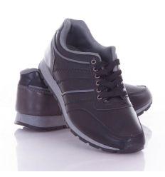 Műbőr, oldalt varrott mintás férfi fűzős cipő (9901)