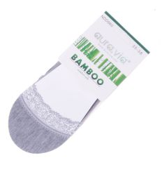 Lábfejnél csipkés, bambuszos anyagú női balerina titok zokni (NDD860)