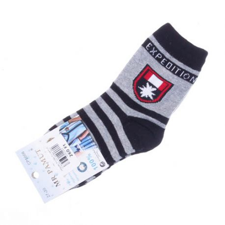 Vegyes mintás fiú pamut női normál zokni (CP5006)