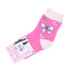 Termo, vastag, vegyes mintás, pamut lány zokni (CP5807)