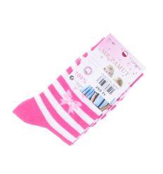 Vegyes mintás, légáteresztő pamut lány zokni (CP5015)
