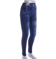 Farmeres mintás, vastagabb anyagú női rugalmas leggings (711-8)