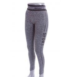 3294a4362d Oldalt és derekán csíkos, feliratos, enyhén bolyhos béléses, rugalmas női  leggings (708