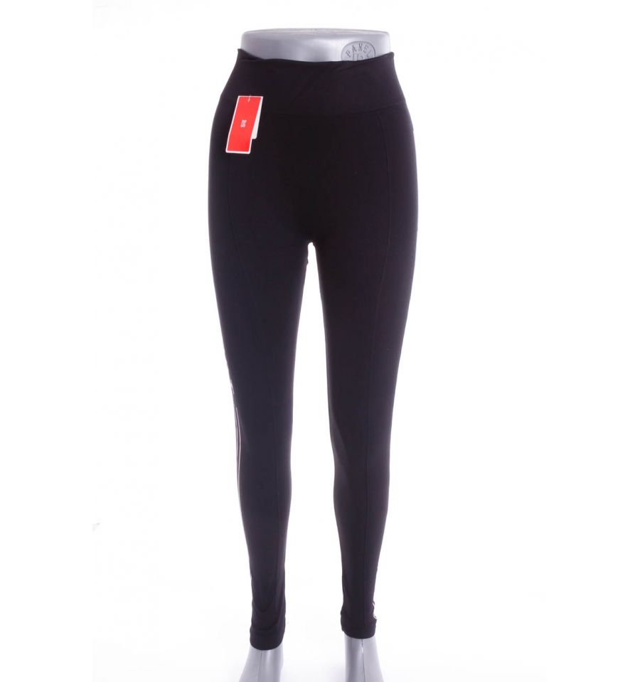 6b3e37a80b Oldalt csíkos, feliratos, rugalmas női hosszú sport leggings, edző nadrág  (L7501)