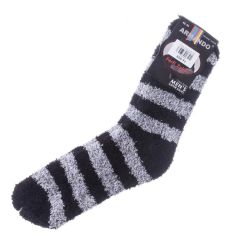 Csíkos, pihe-puha férfi zsenília zokni (AMD136)