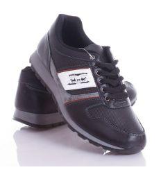 d441fe3b27 Lovas emblémás, mintás, műbőr, férfi fűzős cipő (9909) ...