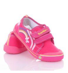 Szivárványos, harántemelős vászon cipő lány 26-31 (A9935P)
