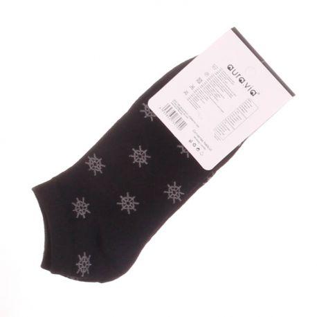 Hajókormány mintás, pamut férfi boka, titok zokni (QFD08)