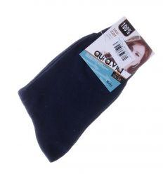 Egyszínű, vékonyabb pamut női normál zokni (NJ51,NJ53)